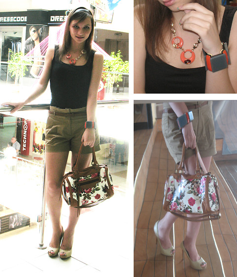 Svitlana L - Marni Bracelet, Warehouse Shorts, Aldo Bag, Aldo Shoes - Sunday in the cinema...
