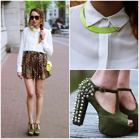 Virgit Canaz - Jeffrey Campbell Green Heels - Neutrals  + Spikes Giveaway On my blog