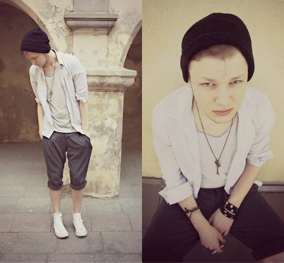 Laurent P. - Second Hand Hat, Reserved Shirt, Zara Shirt, Borrowed Necklase, Zara Shorts - RATATAT