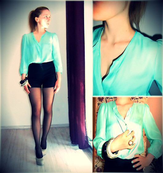 Nathalie G - H&M Peppermint Blouse - You are my pepper.I am your mint.