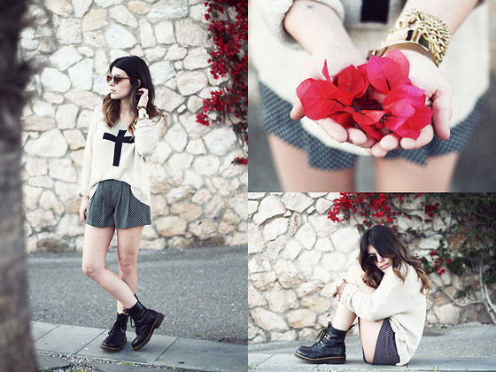 Aida Domenech Aida D - Love Jump, Mango Pants, Termans Boots, Asos Sunglasses, Forever 21 Bracalet, H&M Bracalet 2 - Flowers for you!