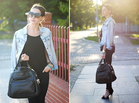 Patrycja R - Cubus Jacket, Parfois Bag - DENIM