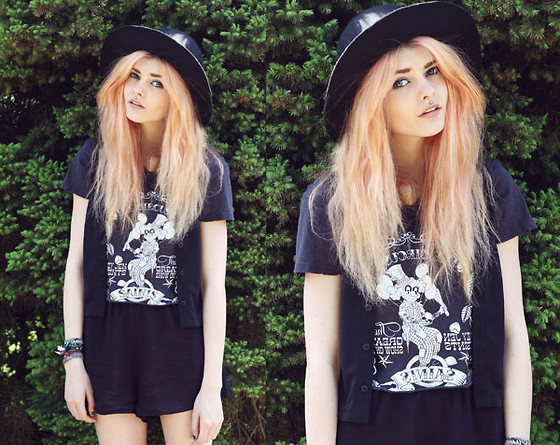 Sabina Olson - Playsuit, Old T Shirt, Hat - Over my dead body #18
