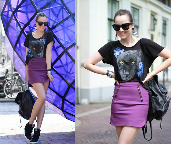 Andy T. - Monki Shirt, Zara Skirt, Ash Footwear Sneakers - THE PANTHER