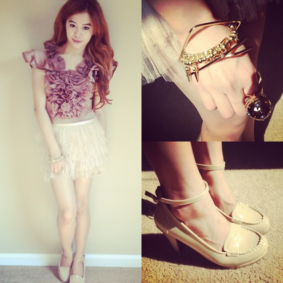 Princess T - Ruffles, Forever 21 Skirt, Topshop Accessories, Pumps - Slumber Doll Party