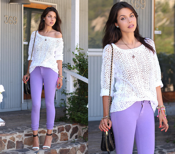 Annabelle Fleur - Dkny Sweater, Denimocracy Jeans, Rebecca Minkoff Bag - Lavender Love