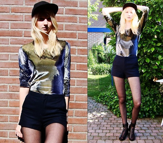 Iris M. - Vintage Top, Topshop Shorts - This magic moment
