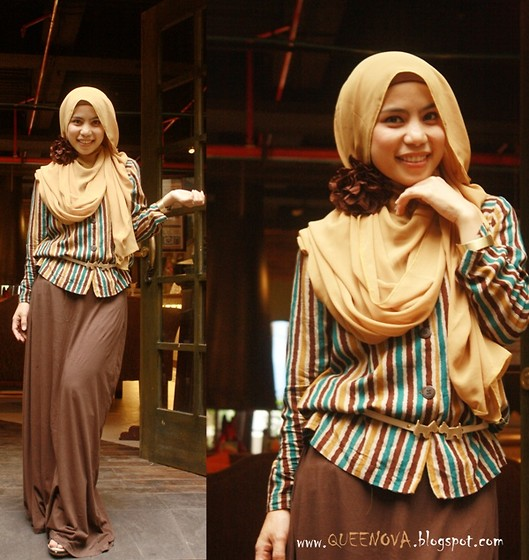 Nova Fatmawati - Lm Hardware Maxi Dress, Queenaya Line Top, Hush Puppies Belt - Date night
