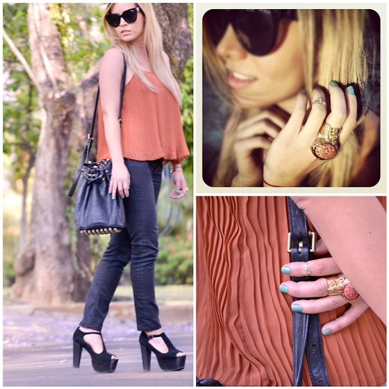 Cassandra De La Vega - Forever 21 Top, Alexander Wang Bag, Yves Saint Laurent Ring, Céline Sunglasses, Jeffrey Campbell Shoes - Welcome back