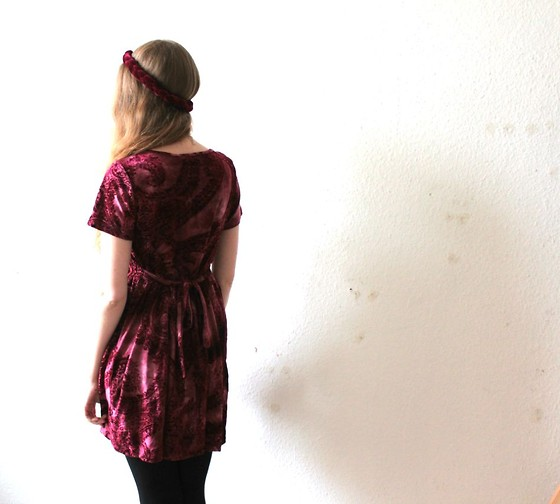 Marie-Louise H. - Minkpink Dress, Urban Outfitters Velvet Headband - Is all that we see or seem but a dream within a dream?