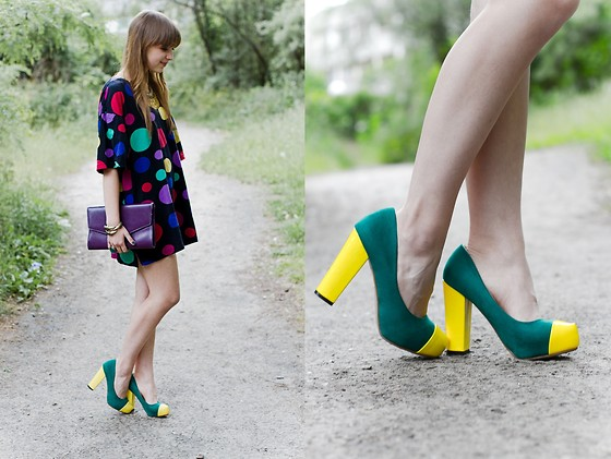 Jasmin Fatschild - Oasap Shoes - GREEN AND YELLOW
