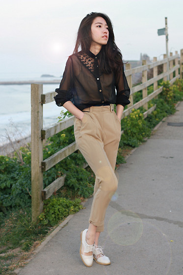 Evan L - Whistles Tailored Pants, Office Match&Mix Flat - Blouse will be loved