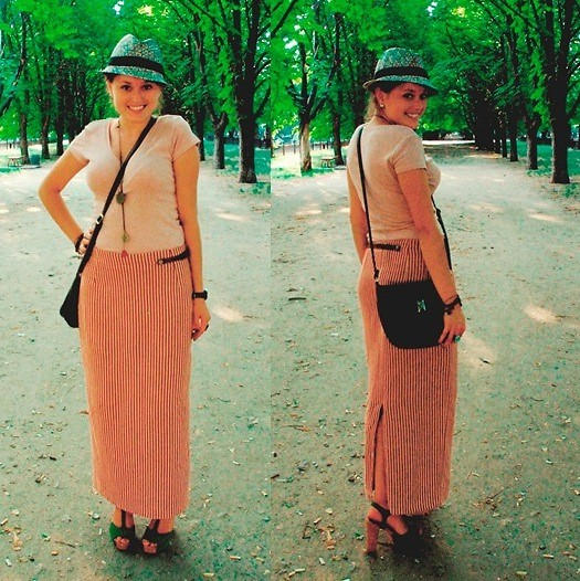 Viktoria Vovkanets - Forever 21 Hat, Tally Weijl Top, Second Hand Skirt - The place to hide from sun