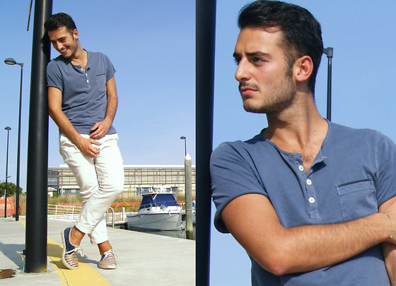 Lorenzo Liverani - Tommy Hilfigher T Shirt, Zara Trousers - So Light.