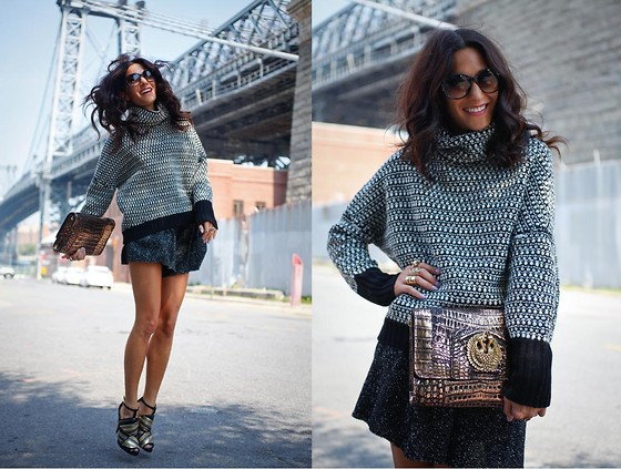 Tess Pare-Mayer - Zara Heels, Sarah Hearey Clutch, Christian Dior Frames, Lure Sweater, Lure Shorts - Trust me when i say...