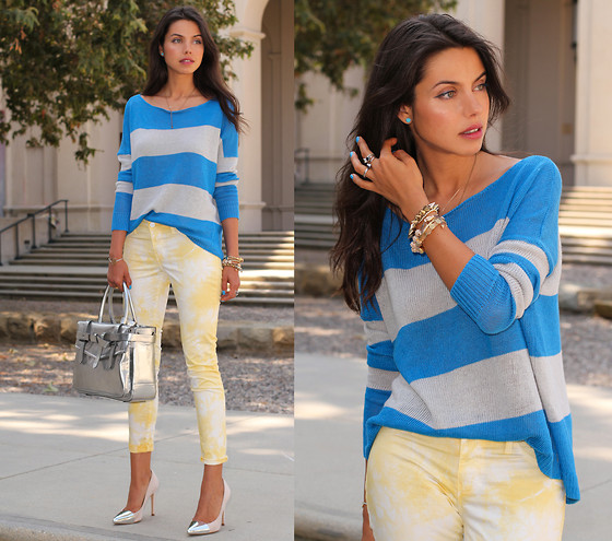 Annabelle Fleur - Theory Sweater, David Kahn Jeans, Reed Krakoff Bag, Zara Heels - Yellow Iceberg