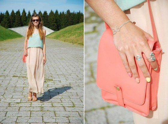 Piia Õ. - Monki Bag, Oasap Chiffon Top, Selfmade Chiffon Maxi Skirt - That summer feeling..