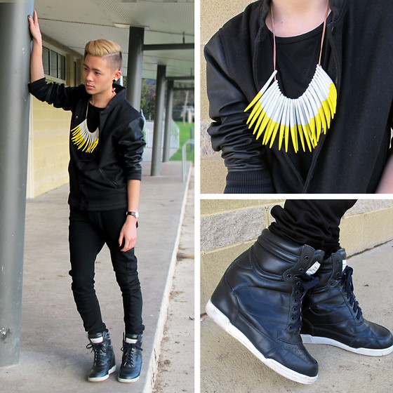 MARTAN . - Sass And Bide Neckpiece, Cotton On Varsity, Nique Tank, Marc By Jacobs Sneaker Wedges, Tissot Watch - Varsity