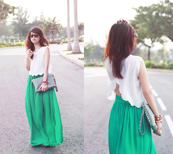 Linda Tran N - Crop Top, Mango Maxi Skirt - No reason to say no
