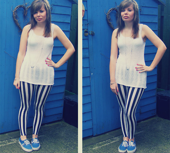 Abbie P - Ebay Leggings, H&M Top, Vans - I'll be there for you