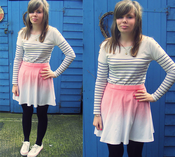 Abbie P - Topshop Top, Topshop Skirt, New Look Shoes - Burning down on me
