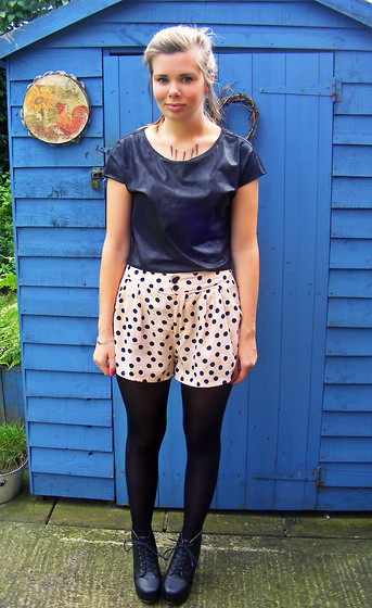 Abbie P - H&M Top, H&M Shorts, Ebay Fake Jc's, Delilah Dust Spiked Necklace - SPOTS AND SPIKES