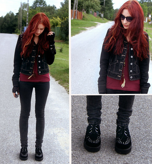 Marie M. - Vertus Jacket, H&M Top, Creepers - Oh, my heart, love is blindness.