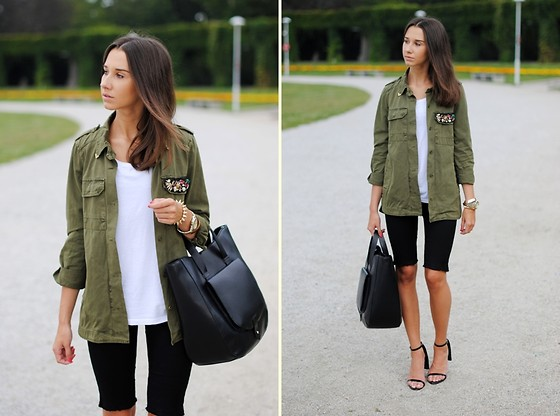 Patrycja R -  - CUT OFF JEANS + MILITARY JACKET