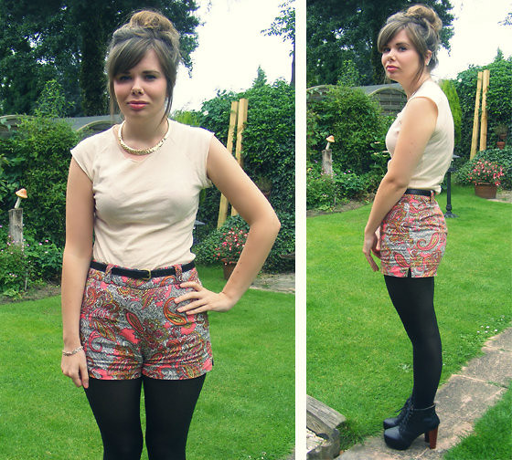 Abbie P - American Apparel Top, H&M Shorts, Primark Belt, New Look Necklace - Cheeky
