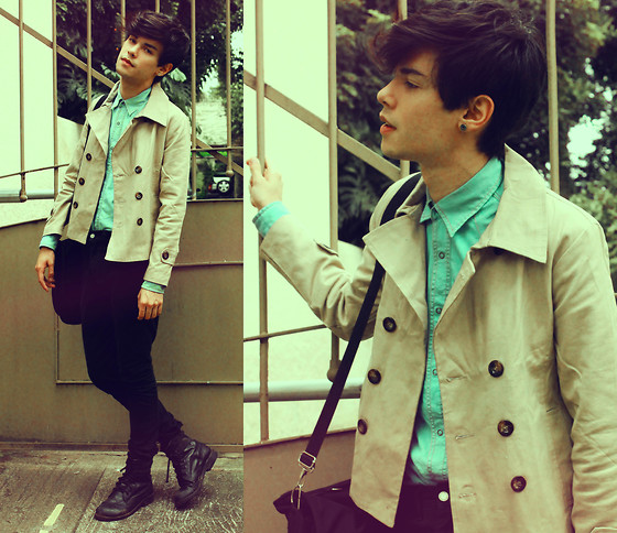Vini Uehara - Tooee Double Breasted Slim Fit Turndown Collar Trench - Reason is Treason