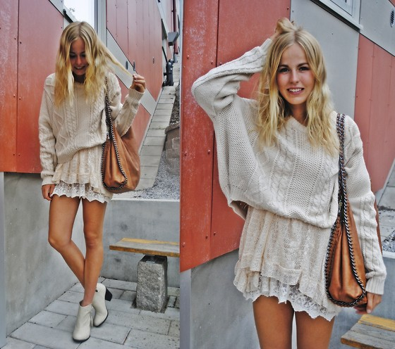 Frida Johnson - Shirt, Dress, New York Bag, Shoes - ALL BEIGE <3
