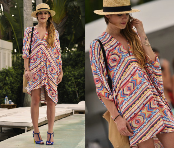Laura Ellner - H&M Hat, Rachel Pally Caftan, Pour La Victoire Bag, Sergio Rossi Shoes - Walk On Water