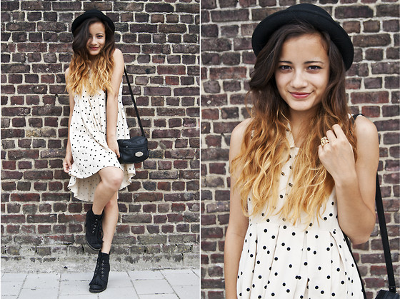 Doris Dave - H&M Hat, Mom's Leather Bag, Forever 21 Dress, Sacha Shoes - XOXO