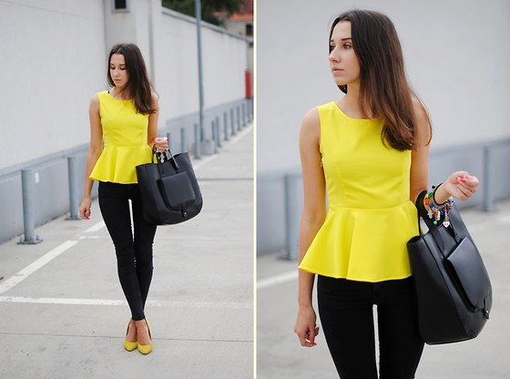Patrycja R -  - YELLOW PEPLUM TOP