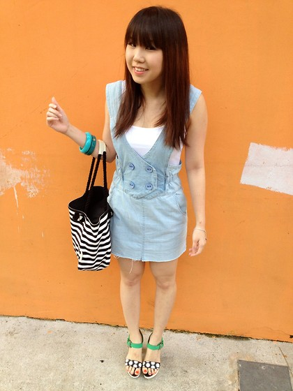Diana Nicolette - Staccato Sandals, Cotton On Pinafore - Grocery shopping 2.