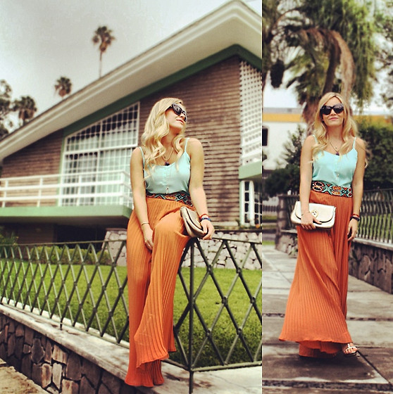 Cassandra De La Vega - House Of Harlow Sunglasses, Forever 21 Pants, Gucci Handbag, Zara Belt - Last chance for mint
