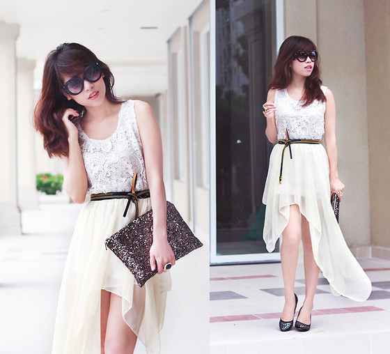 Linda Tran N - Lace Top, Asymmetrical Skirt - Two can play that game...