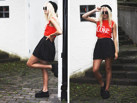 Fanny Larsson - Inherited, Gina Tricot Skirt, Fashionking Creepers, H&M Hat - I am titanuim
