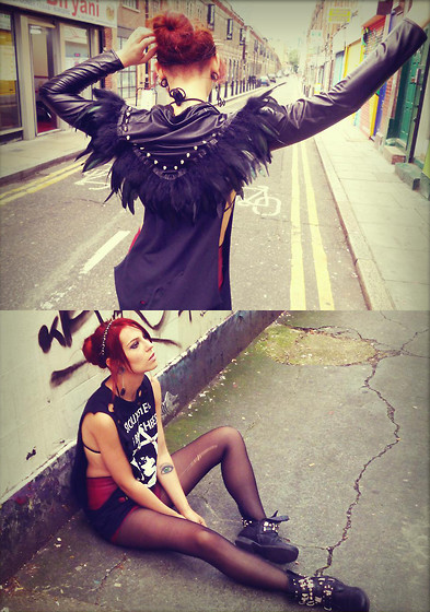 Masha Sedgwick - Bolero, Shirt, New Look Shorts, Hair Accessory With Spikes - BRICK LANE