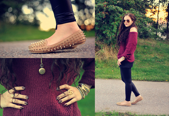 Ida Eriksson - Nelly Trend Spike Loafers, Gina Tricot Knitted Shirt - Autumn spikes