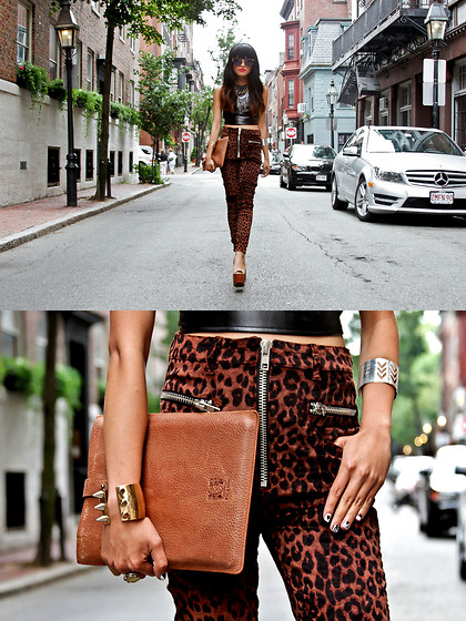 Olivia Lopez - Miu Noir Sunglasses, Unif Axl Pants - Beacon Street, Boston