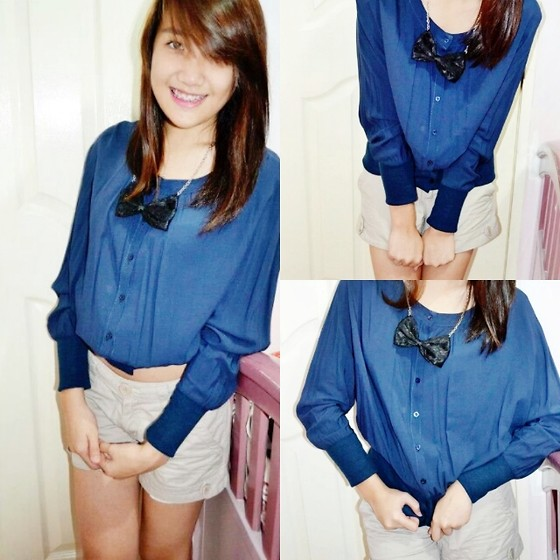 Camille T. - Terranova Ribbon Necklace, Forever 21 Top/Long Sleeves - Just take control