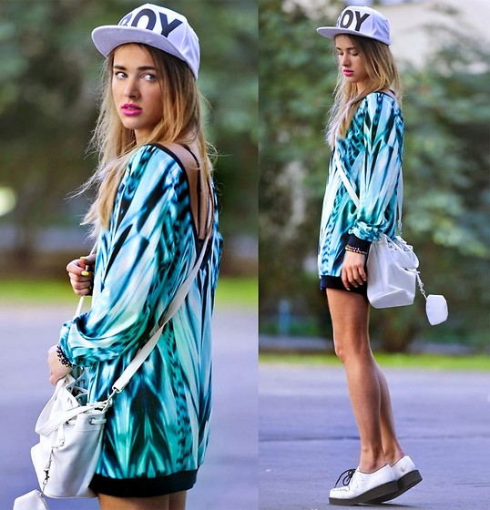 Juliett Kuczynska - Boy London Cap, Blouse Coming Soon - Ellie Goulding - Hanging On (Without T Tempah) / maffashion