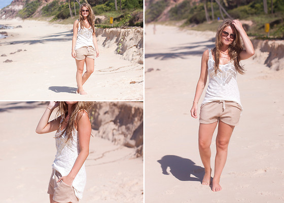 Samm ASCF - Dorothy Perkins Sequin Vest, Pull & Bear Shorts, Just Cavalli Sunglasses - A day at the beach