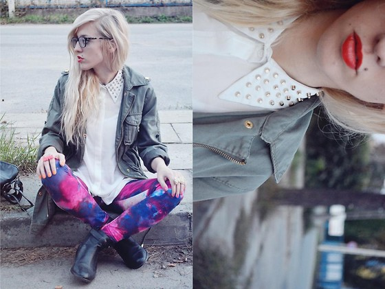 Aneta M - Wholesale Dress Studded Blouse, Parka Jacket, Firmoo Eyeglasses, Galaxy Leggings - Vee Scott – Gimme Your Love (Oliver Lang & Sandro Vocal Mix)