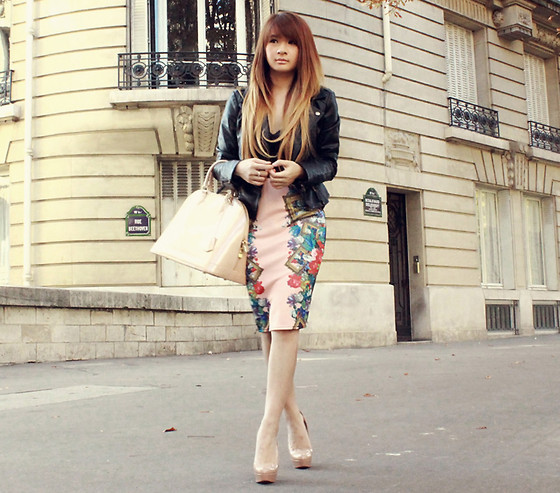 Mayo Wo - Céline Beige Sunnies, Romwe Pale Pink Shirt, Choies Leopard Print Lace Dress, Dolce