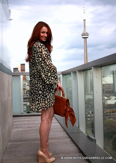 Marta Tryshak - Marc By Jacobs Patent Leather Wedges, Zac Posen Z Spoke Purse, Elizabeth & James Dress - Rooftop Parties