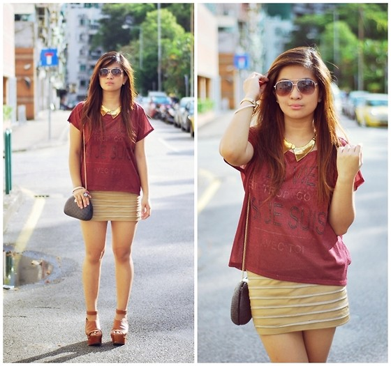 Carla Florendo - Pull & Bear Tee, Natkiel Collar Necklace, Mango Sunnies - That's Just Not It