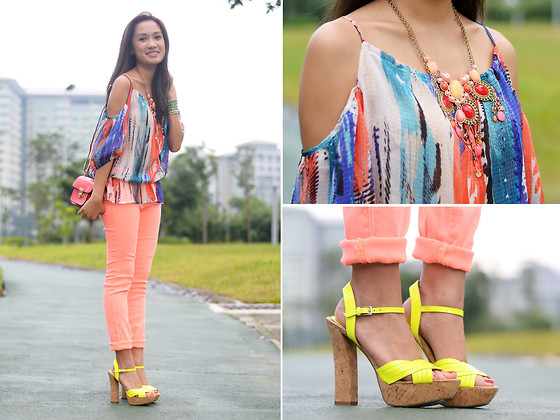 Laureen Uy - Guess? Top, Sm Accessories Bag, Guess? Pants, Guess? Shoes - Guess The Colors (BMS)
