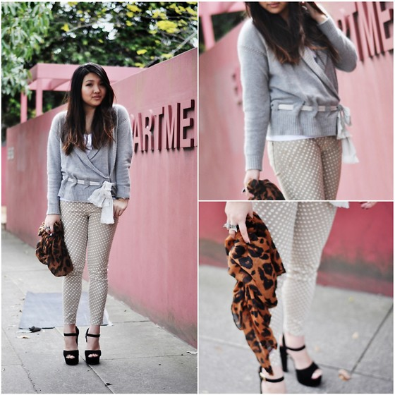 Karen - Jill Stuart Cardigan, Steve Madden Shoes, Current/Elliot Jeans - Tie me by the waist